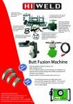 Hiweld butt fusion welding machine