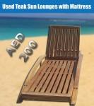 Used Teak Sun Lounges