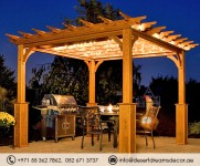 Wooden Pergola | Wooden Gazebo | Garden Furniture in Abu Dhabi, Dubai, Sharjah.