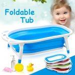Baby foldable bath tub