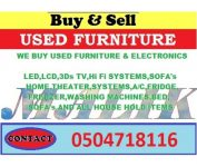 used all furniture&electronic buyer call Ali 0504718196