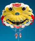 inflatable boats, water banana and flyfish, Waterbird Parasail