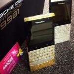 Blackberry porsche Design P9981 (Gold,Silver & Black) with vip pins
