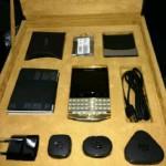 Brand New Blackberry Porsche Design P9981 Gold Arabic Keyboard + specail pin