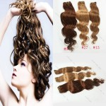 New 16″ 18″ 20″ 100g Brazilian Remy Wave Human Hair Weft Extensions Blonde hair