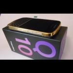 للبيع Gold BlackBerry Q10 & BB Porsche 9981 Gold with Special Pins 1,850 Dirhams